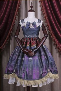 Elisabeth Schloss Schonbrunn's Night Daily JSK in purple - Classical Puppets