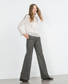 STRAIGHT CHECKED TROUSERS