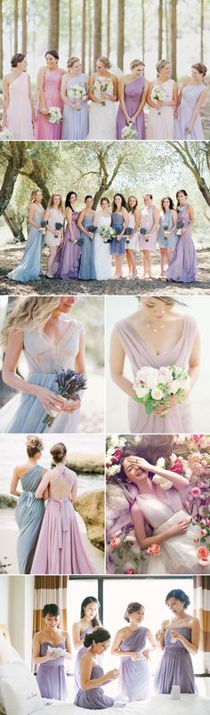 Top 8 Bridesmaid Dress Trends for Summer 2014 - Lavender In love with the dress on the far left.
