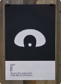 Affiche minimaliste It (Stephen King) par Nick Tassone