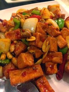 Fast Vegetarian Meals and Recipes: Vegetarian Kung Pao chicken with tofu or textured vegetable protein (TVP) in 15 minutes!