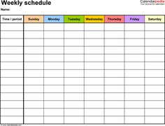 daily calendars templates - Google Search