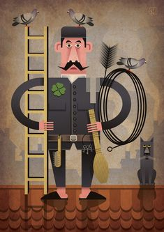 """Check out this @Behance project: """"Chimney sweep"""" https://www.behance.net/gallery/49212905/Chimney-sweep"""