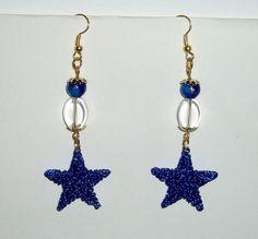 Orecchini stelle blu.