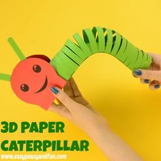 Paper Caterpillar Craft with Template This adorable paper caterpillar craft is a cute and wiggly paper craft for kids.This adorable paper caterpillar craft is a cute and wiggly paper craft for kids.