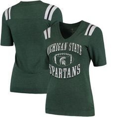 Michigan State Spartans Colosseum Women's Artistic T-Shirt - Green