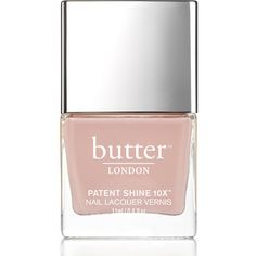 butter LONDON Patent Shine 10X Nail Lacquer 11ml - Shop Girl ($22) ❤ liked on Polyvore featuring beauty products, nail care, nail polish, glossy nail polish, shiny nail polish, gel nail color and gel nail polish