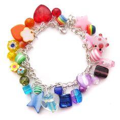 Rainbow Charm Bracelet 9 by fairy-cakes