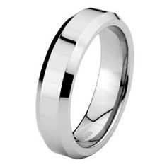 6mm Beveled Edge Cobalt Free Tungsten Carbide Comfort Fit Wedding Band Ring for Men and Women (Size 5 to 15) - Size 5. http://todaydeals.me/viewdetail.php?asin=B007V727X8