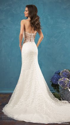 amelia sposa 2017 bridal sleeveless sheer halter neck sweetheart neckline fully embellished bodice delegant modified a line wedding dress low back chapel train (ariana) bv
