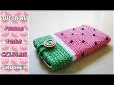 Cómo hacer una funda para el celular a crochet, paso a paso - YouTube