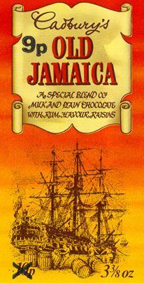 Loved Old Jamaica chocolate bars launched in 1970, much better than the copies nowadays!