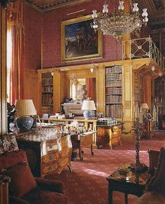 Alnwick Castle - Library-home of the Duke of Northumberland