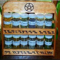 Sweet herb rack.