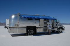 An '07 Kenworth mated to a '68 Airstream trailer.