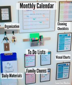 Command Center Must Haves - get the whole family daily life organized