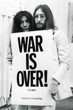 plakat John Lennon war is over! | Hippie Style