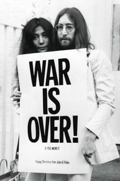 plakat John Lennon war is over! | Hippie Style