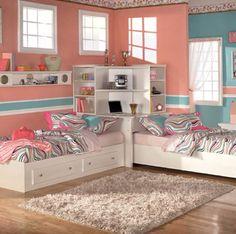 Cute twin girls room