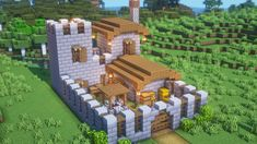Cute Minecraft Houses, Minecraft Plans, Amazing Minecraft, Minecraft House Designs, Minecraft Survival, Minecraft Tutorial, Minecraft Blueprints, Minecraft Crafts, Minecraft Buildings