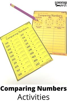 Learn more about teaching comparing 3-digit numbers in this 2nd grade math unit. There are anchor charts, activities, assessments and technology ideas to help students learn how to compare numbers using symbols and place value. Place Value Activities, Number Activities, Number Games, Interactive Activities, Hands On Activities, Student Teaching, Teaching Tips, Teaching Place Values, Math Groups