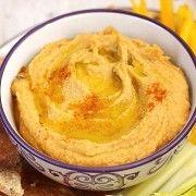 Hummus+cu+ardei+copti Humus, Pudding, Ethnic Recipes, Desserts, Food, Tailgate Desserts, Deserts, Eten, Puddings