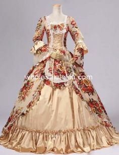 Renaissance Victorian Chiffon Dress Ball Gown Lolita Reenactment Costume