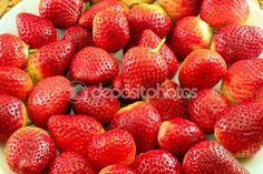 Fresh Strawberry on a Wooden Rustic Dish — Stock Image #72641303