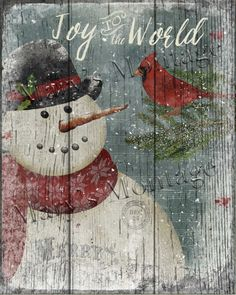 Primitive Christmas Sign Joy To The World Snowman Wooden Vintage Sign 2 Of 4 & Garden Christmas Wood Crafts, Snowman Crafts, Outdoor Christmas Decorations, Christmas Signs, Country Christmas, Christmas Pictures, Christmas Art, Christmas Projects, Holiday Crafts