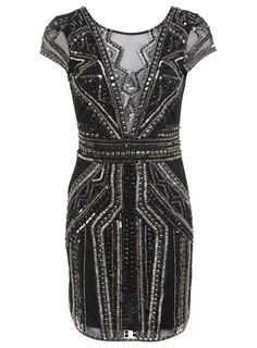 Miss Selfridge Premium embellished sequin jewelled bodycon mini party dress - Christmas party dress