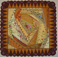 I ❤ crazy quilting, beading & embroidery . . . Bead Crazy 2 (beautiful frame) ~By Amy Munson
