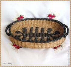 Поделка изделие Плетение Набор на кухню Бумага газетная Трубочки бумажные фото 6