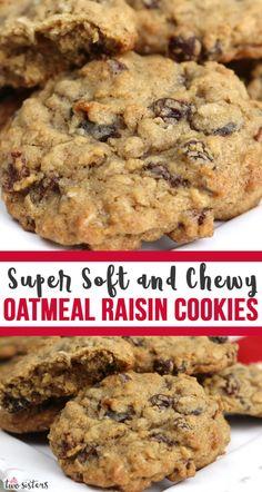 oatmeal cookies chewy ~ oatmeal cookies + oatmeal cookies easy + oatmeal cookies healthy + oatmeal cookies chewy + oatmeal cookies recipes + oatmeal cookies chocolate chip + oatmeal cookies easy 2 ingredients + oatmeal cookies with quick oats Soft Oatmeal Raisin Cookies, Homemade Oatmeal Cookies, Oatmeal Cookie Recipes, Soft Cookie Recipe, Flourless Oatmeal Cookies, Easy Homemade Cookie Recipes, Microwave Cookies, Cake, Recipes