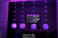 Paper Lanterns and Pink Sparkle Ribbon. www.sparklelites.com
