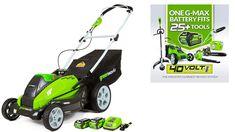 Greenworks Cordless Lawn Mower, AH Battery Included Best Lawn Tractor, Electric Mower, Cordless Lawn Mower, Tractors, Outdoor Power Equipment, Garden, Garten, Gardening, Tractor