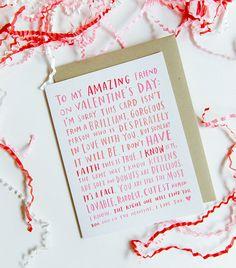 Valentine For My Amazing Single Friend / di emilymcdowelldraws, $4.50