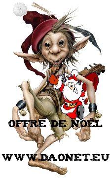 """Noël approche, l'occasion d'offrir ou de s'offrir de la musique de Daonet ;-), le CD Donemat sorti cette année avec le lutin-musicien, ainsi que, si vous le souhaitez, le CD rok a raok sorti fin 2008 et incluant notre version de """"Tri Martolod"""". Pour l'occasion, une affiche dédicacée par les membres du groupe et un porte clés - décapsuleur """"Donemat"""" (pour ne jamais être pris au dépourvu) seront joints à l'envoi, profitez-en ..."""