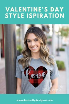 Fashion Printed T-Shirts Happy Valentines Day Stylized Hand Writing Laurel Leave