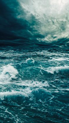 ↑↑TAP AND GET THE FREE APP! Art Creative Sea Water Storm Blue White Sky Clouds HD iPhone 6 Wallpaper
