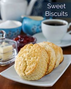 Sweet Biscuits – make them for a teatime treat or as the start of a simple but special shortcake dessert. Sweet biscuits are something that I have made for a long time in slightly different. Biscuits For Strawberry Shortcake, Shortcake Biscuits, Bbq Desserts, Summer Desserts, Dessert Recipes, Summer Treats, Brunch Recipes, Newfoundland Recipes, Brioche