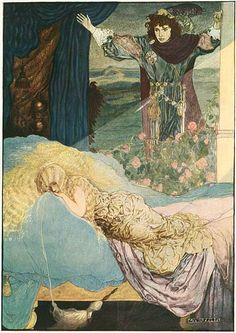 art by Gustaf Tenggren - via Sleeping Beauty from Grimm's Fairy Tales