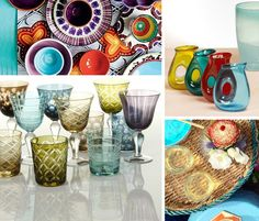 Trending: Boho-chic table top. #summerdecor #ideas #tablesetting #vibranthues #colorful #glasses #jars #tabletop #serving #style  Shop Pols Potten glasses and tabletop accessories at interni store http://www.internistore.com/accessories/tableware/potiria/