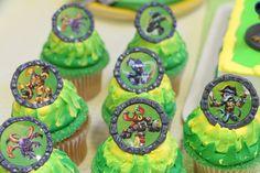 Skylanders Swap Force cupcakes...