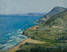 ASHTON Will (1881-1963), 'The Outlook, Stanwell Park,' 1940., Oil on Canvas, 50x65cm Australian Painting, View Image, Cool Things To Make, Worlds Largest, Oil On Canvas, Nostalgia, Auction, Paintings, Park