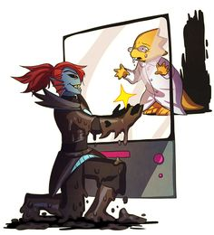 In her final moments, Undyne professes her love to Alphys and proposes to keep her heart forever. Right before the gentle breeze takes her.