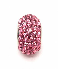Look what I found on #zulily! Pink Crystal & Sterling Silver October Charm Bead #zulilyfinds