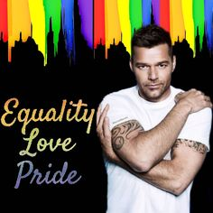 """ricky_martin """"Todos diferente ,mas todos iguais 💞""""Todos diferentes, Pero todos iguales""""👭👬👫 """"All different, but all the same"""" 💜💙💛🧡❤ Ricky Martin, Equality, Pride, My Love, Instagram, Fictional Characters, Birthday, Social Equality, Fantasy Characters"""