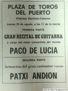 Puerto de Sta. María, 1974. Paco de Lucía y Patxi Andion.