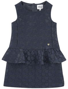 cb3d26e4c5a Girls Navy Blue Peplum Dress. Armani ...
