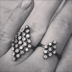 Romance No Thanks-rings in oxidized silver